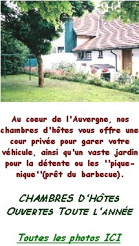 Chambres d 39 h tes auvergne for Auvergne chambre d hote
